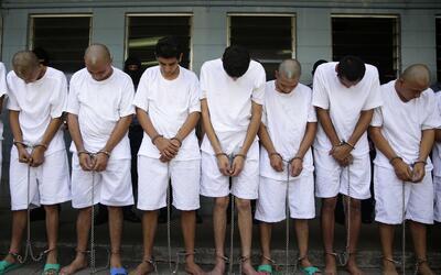 Varios integrantes de la Mara Salvatrucha en El Salvador fueron transfer...