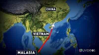 ¿Dónde está el avión de Malaysia Airlines?