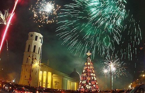 Año Nuevo en Lituania.