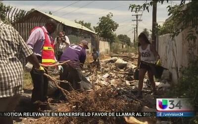 Batallan contra montañas de basura en Los Ángeles