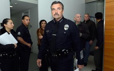 Charles Beck, jefe de la Policía de Los Ángeles (LAPD).
