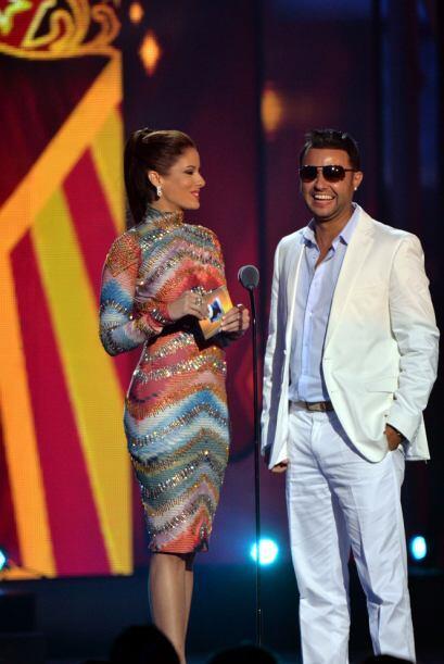 Aleyda Ortiz y Tony Dize presentaron la categoría Mi DJ favorito.