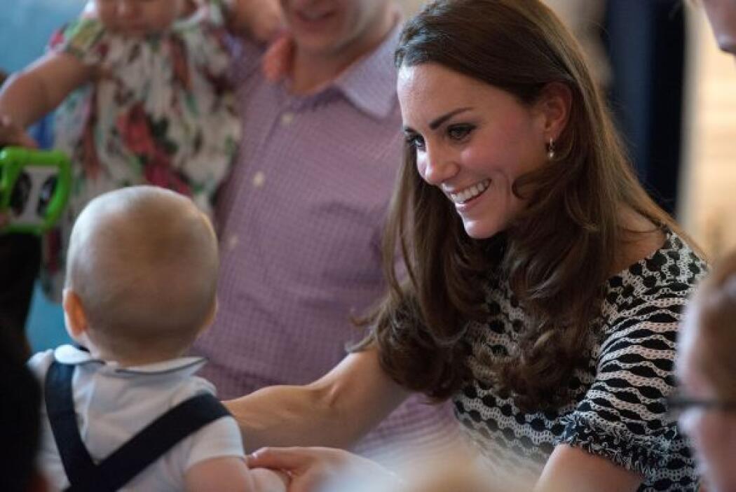 A la reunión también asistió su niñera.