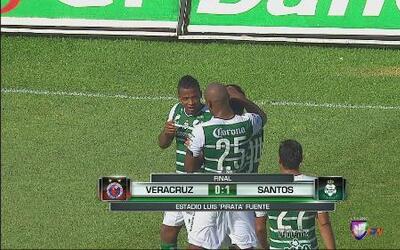 Santos se llevó tres puntos de Veracruz
