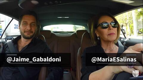Maria Elena Salinas le cuenta a Jaime Gabaldoni sus primeras experiencia...