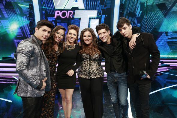 Con el resto de finalistas: Danny, Yazaira, Fernando y José Enrique.