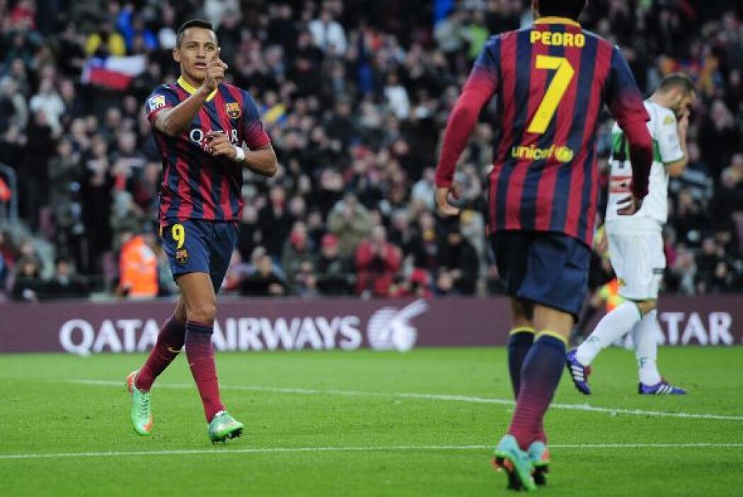 3-0 gracias a la conexión de Sánchez con Pedro, quien dio la asistencia.