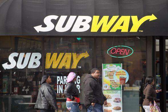 9. Subway  ¿Quién ocupa el mismo lugar en el mercado gener...