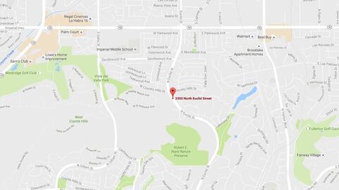Área donde apareció un dispositivo sospechoso en Fullerton...