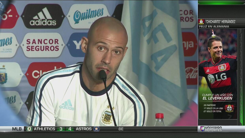 """Mascherano, sobre Messi: """"No verlo sería un pecado para todos los que no..."""