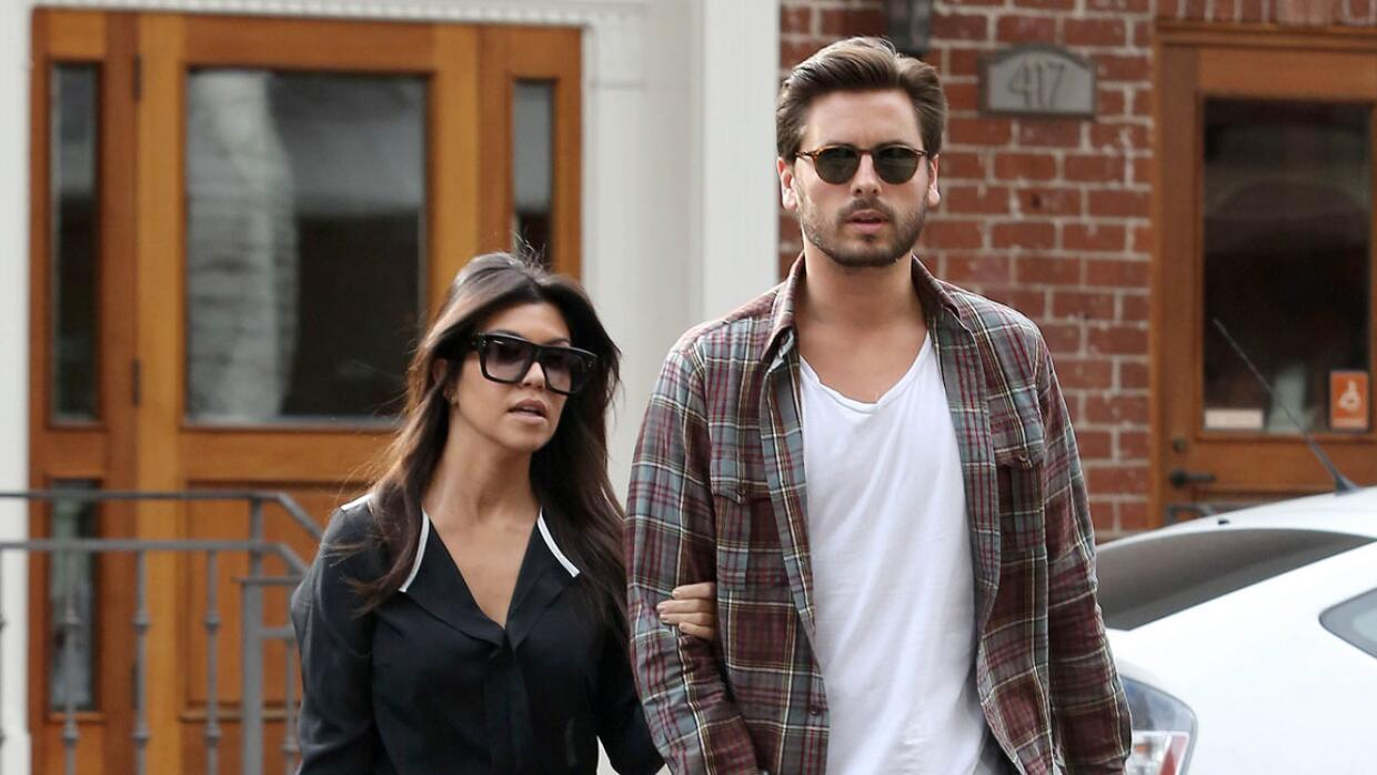 Kourtney Kardashian y Scott Disick.