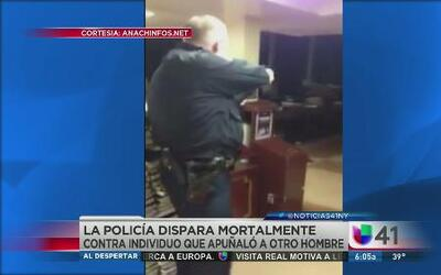 Policía dispara contra sospechoso de apuñalamiento