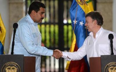 Juan Manuel Santos y Nicolás Maduro se reunieron en Cartagena