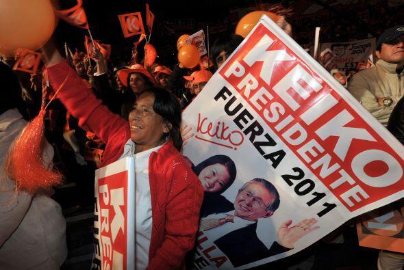 En las elecciones parlamentarias de 2006, Keiko fue la congresista más v...