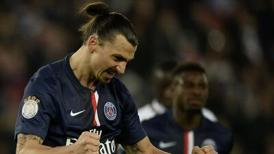 Ibrahimovic celebra el gol del triunfo del PSG.