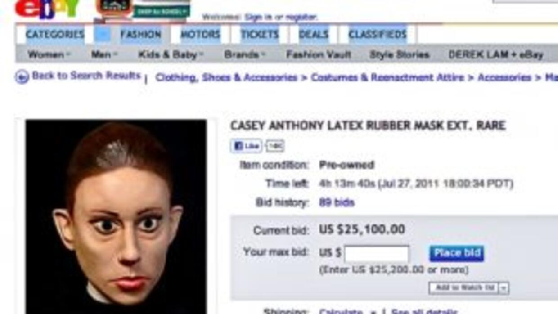 Esta imagen de la página eBay muestra la subasta cuando andaba por aprox...