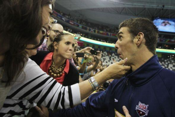 Michael Phelps celebró este triunfo junto a su hermana.