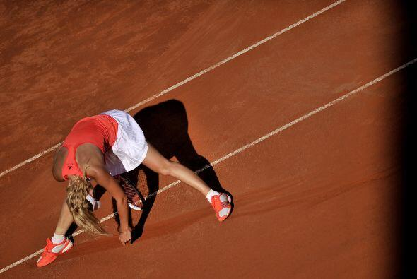 Por momentos las tenistas mostraron su cansancio. Wozniacki realiz&oacut...