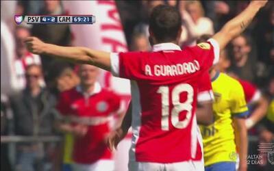 Con goleada el PSV sigue en lucha por título