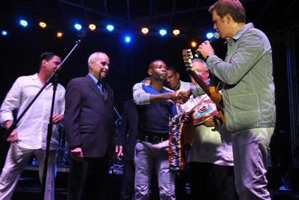 El evento se realizó durante el concierto del cantante cubano Willie Chi...