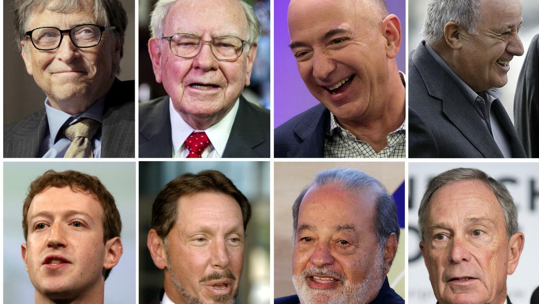 Conoce a los ocho hombres que poseen la mitad de la riqueza mundial
