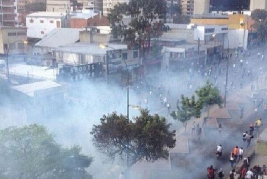 El usuario Juan Caribe también publicó una fotografía de las protestas d...