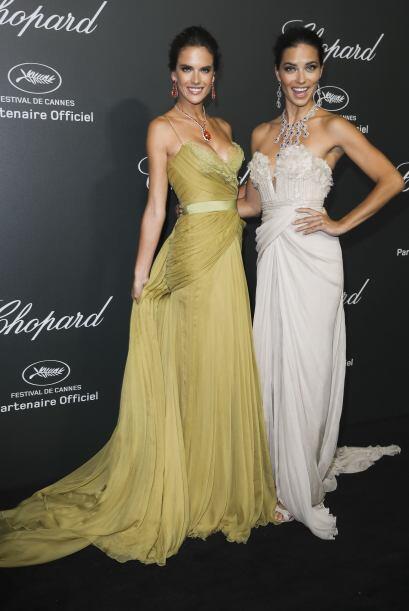 Las dos amazónicas acudieron a una de las alfombras rojas de Cannes en v...
