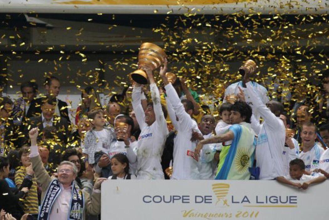 La Copa de la Liga fue ganada por el Olympique de Marsella al imponerse...