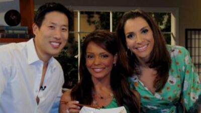 Maggie Jiménez recibió a la presentadora de Primer Impacto, Illia Calder...