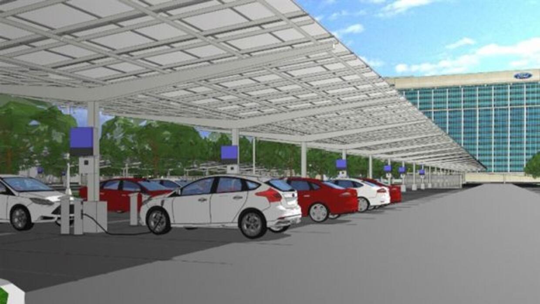 Ford y DTE Energy construirán la marquesina de paneles solares más grand...