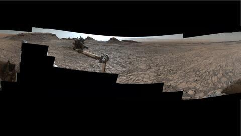 El rover Curiosity manda imágenes 360 de Marte