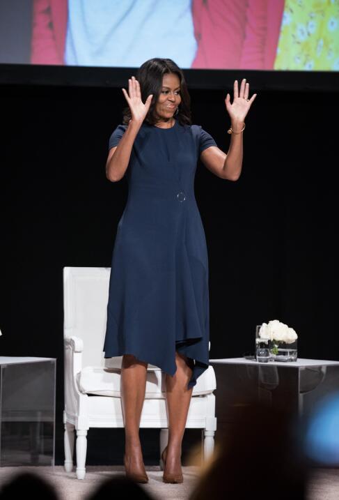 Michelle Obama y su optimismo hecho vestido   GettyImages-490534348.jpg