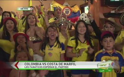 Comunidad colombiana calman los nervios con cumbia
