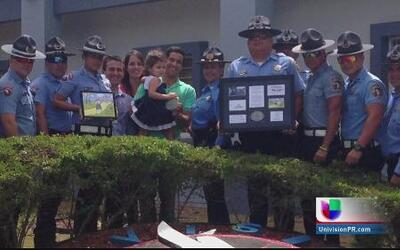 Policías colaboran en evento por los niños