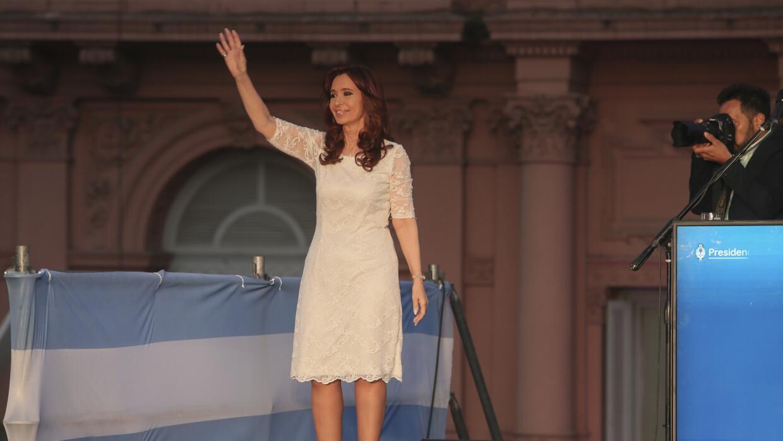 Cristina Fernández se despidió de sus partidarios el miércoles por la no...