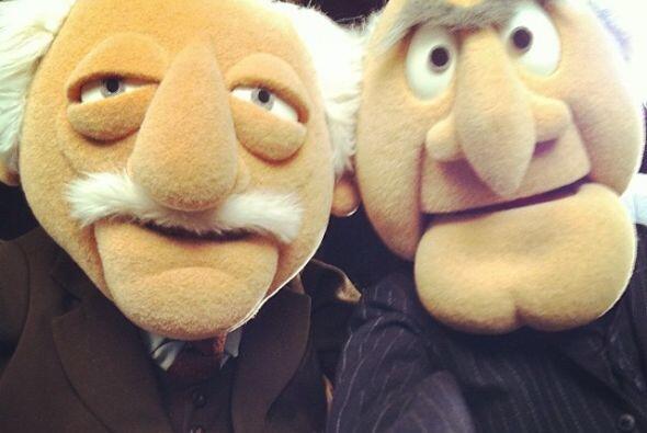 Y nadie se queda atrás, Statler y Waldorf decidieron probar las nuevas t...