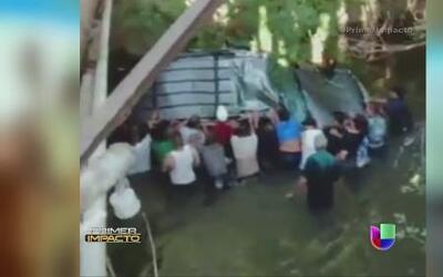 La rápida acción de varias personas salvó la vida de tres adolescentes