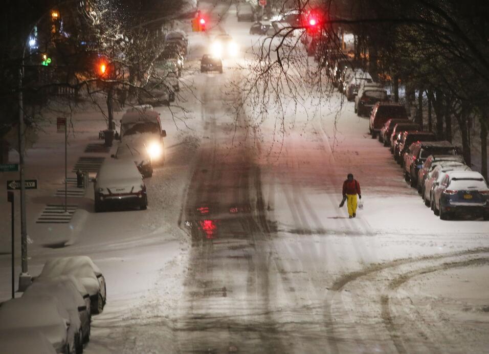Así luce el paso de la tormenta invernal Stella  en la ciudad de Nueva York