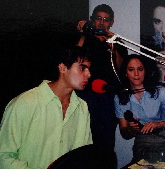 """""""Entrevistando a @ernestodalessio en mi primer trabajo en un medio de co..."""