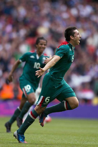Héctor Herrera, quien fue uno de los mejores jugadores en Londres...