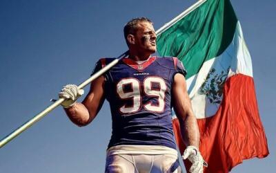 El emblemático #99 de los Texans estará en México.