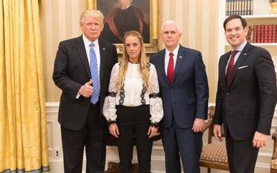 """Tintori tras su encuentro con Trump: """"Venezuela es prioridad para la pol..."""