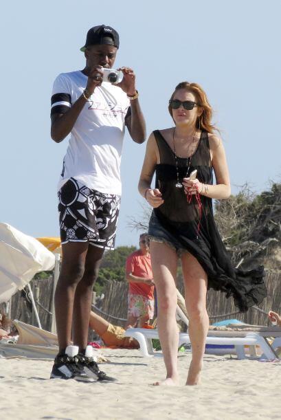 Lindsay sigue disfrutando de los días de verano en Ibiza.