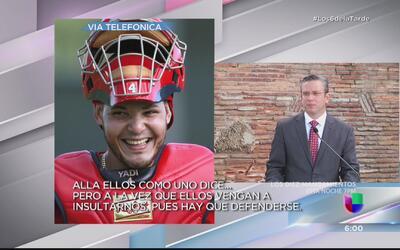 Desilusionado Yadier Molina con el gobernador