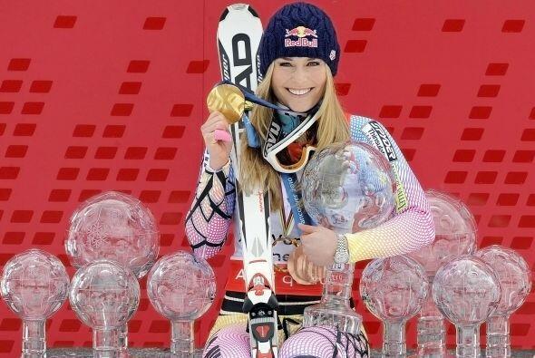 Campeona olímpica de descenso y bronce en el 'súper' de Va...