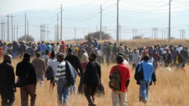 Sudáfrica prepara un homenaje para los 44 mineros muertos en Marikana.