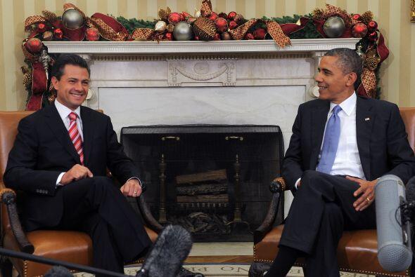 Al iniciar su encuentro con el presidente electo de México, Enriq...