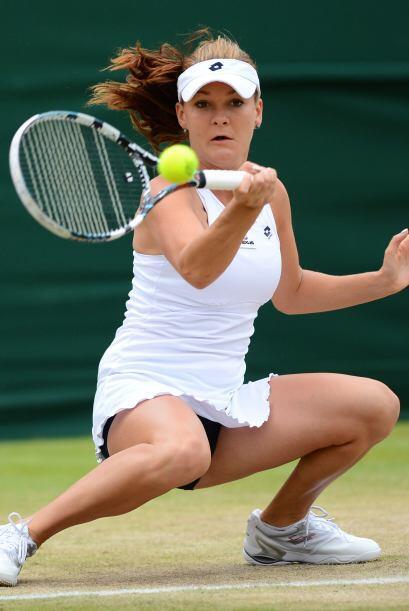 En la jornada también ganó la polaca Agnieszka Radwanska.