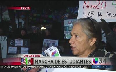 Los Ángeles se une a la gran protestas por los 43 estudiantes