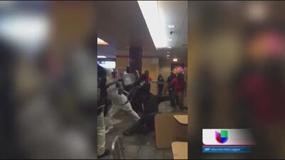 Peleas grupales en lugares turísticos de Chicago